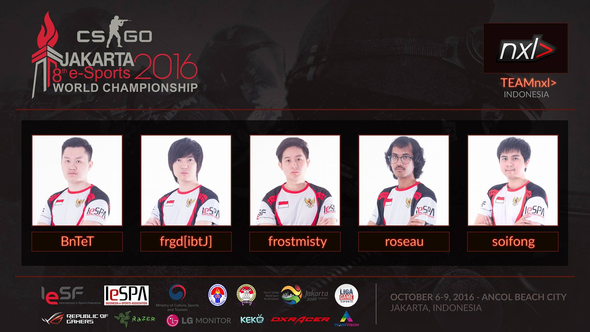 team nxl will be representative of indonesia for cs go eternal
